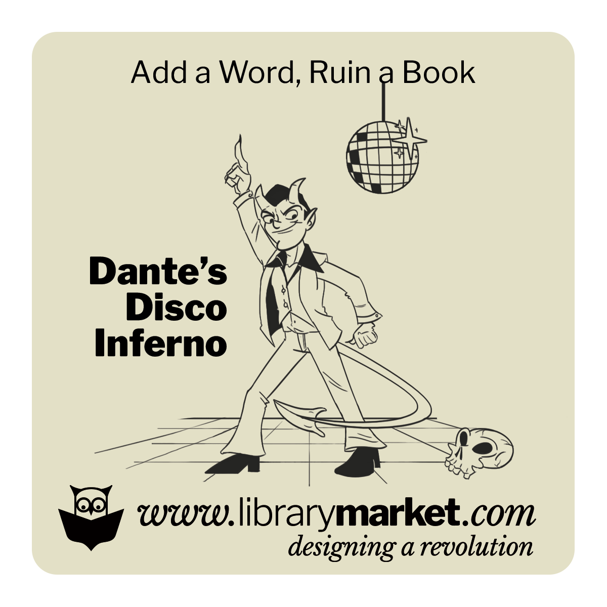 Library Market Add-a-Word Coaster - Dantes Disco Inferno