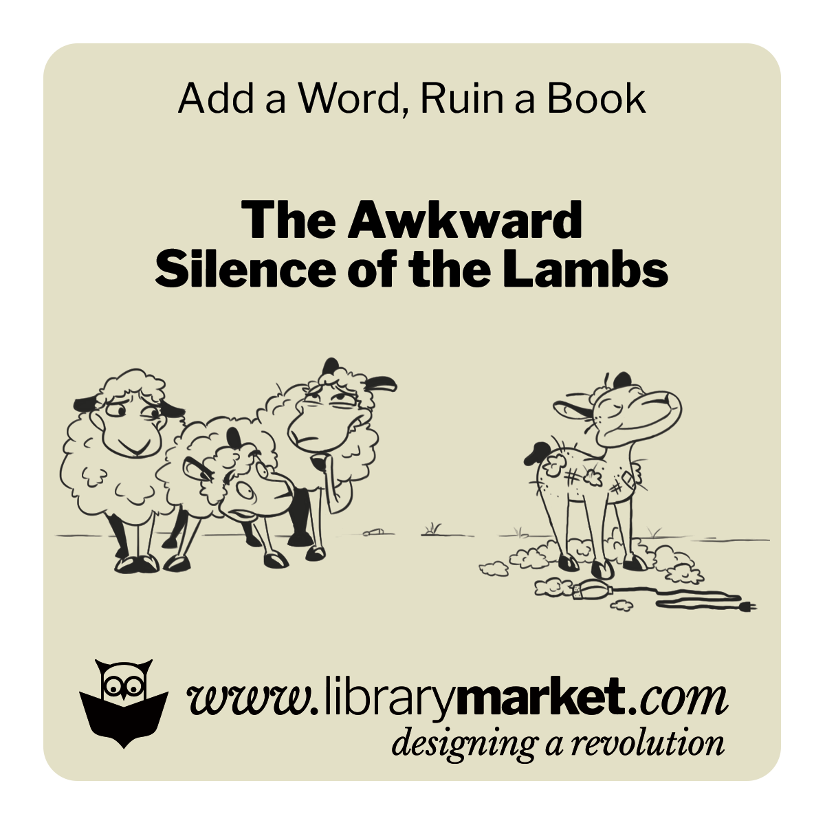 Library Market Add-a-Word Coaster - The Awkward Silence of the Lambs