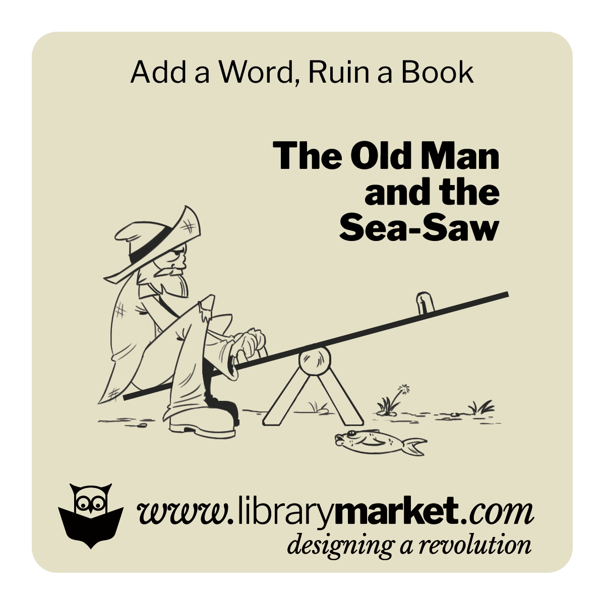 Library Market Add-a-Word Coaster - The Old Man and the See-Saw