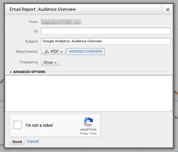 Screenshot - Google Analytics Audience Overview Report Email