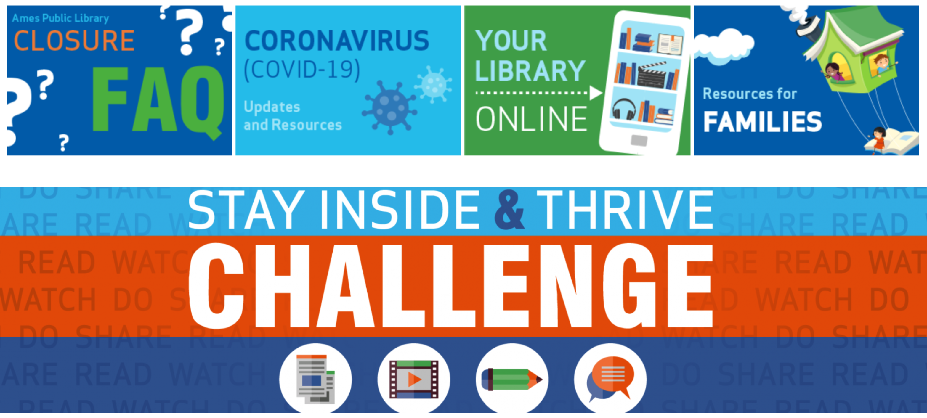 Ames Public Library's Stay Inside and Thrive Challenge